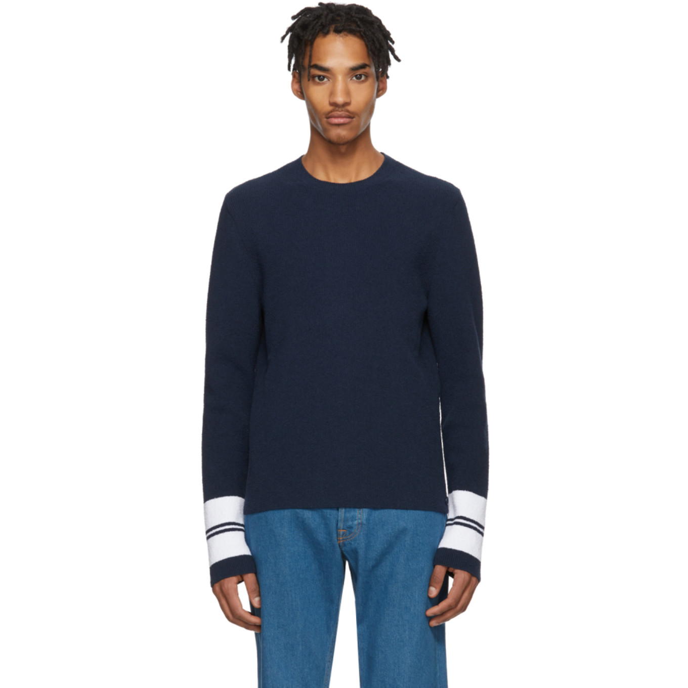 Blue Terry Cloth Sweater by Lanvin