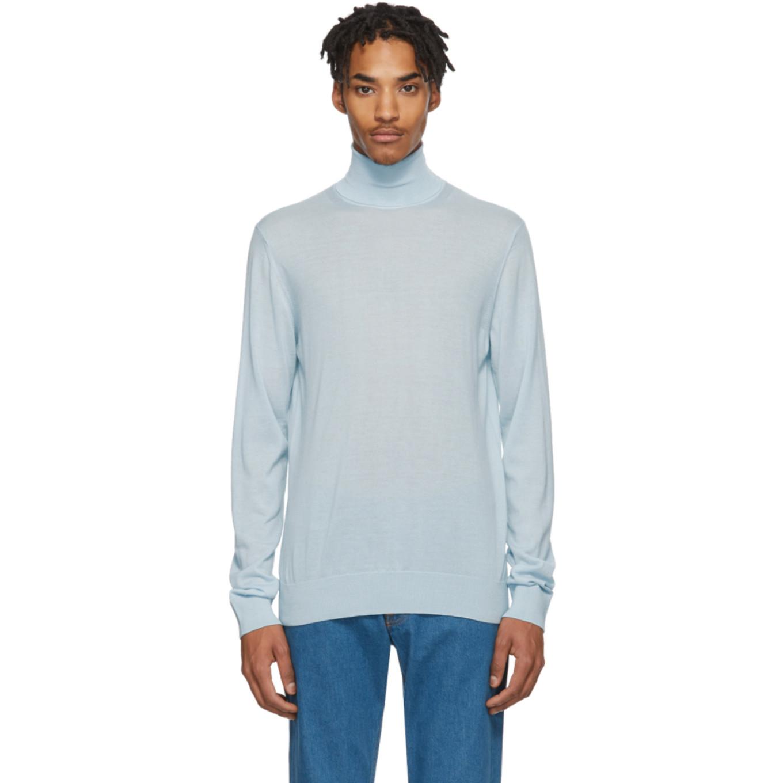 Blue Cashmere Turtleneck Sweater by Lanvin