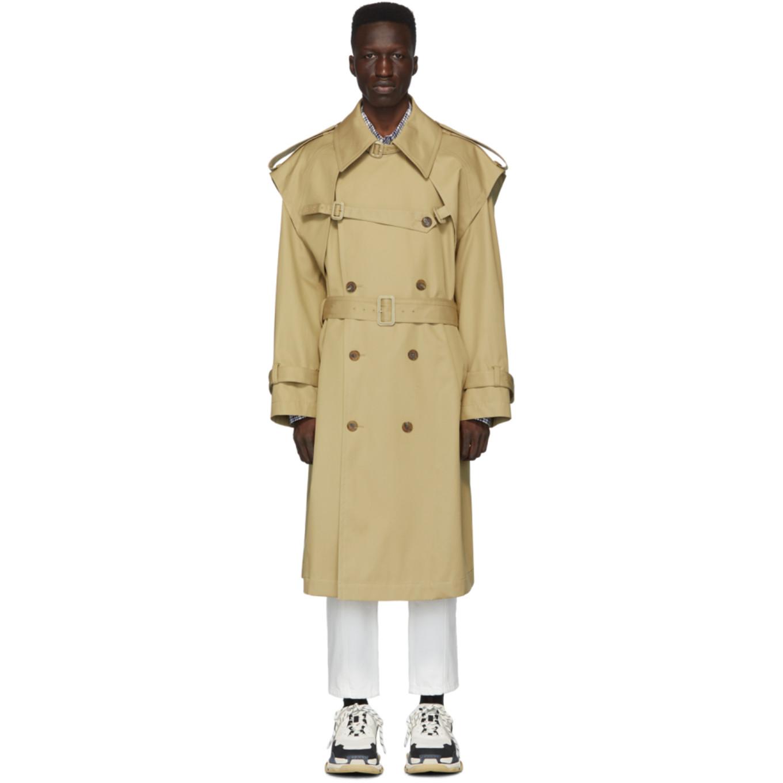 Beige Trench Coat by Juun.J