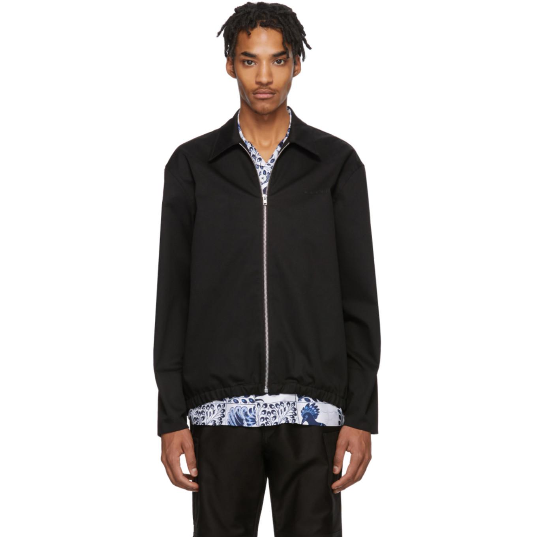 Black Gabardine Workwear Jacket by Marni