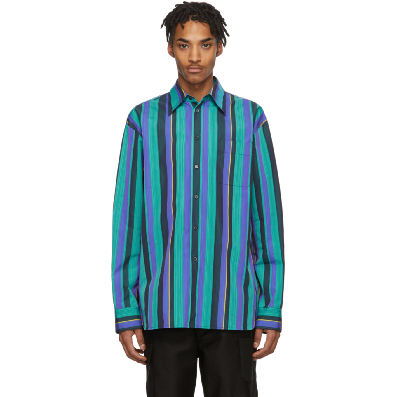 Multicolor Poplin Striped Shirt by Marni