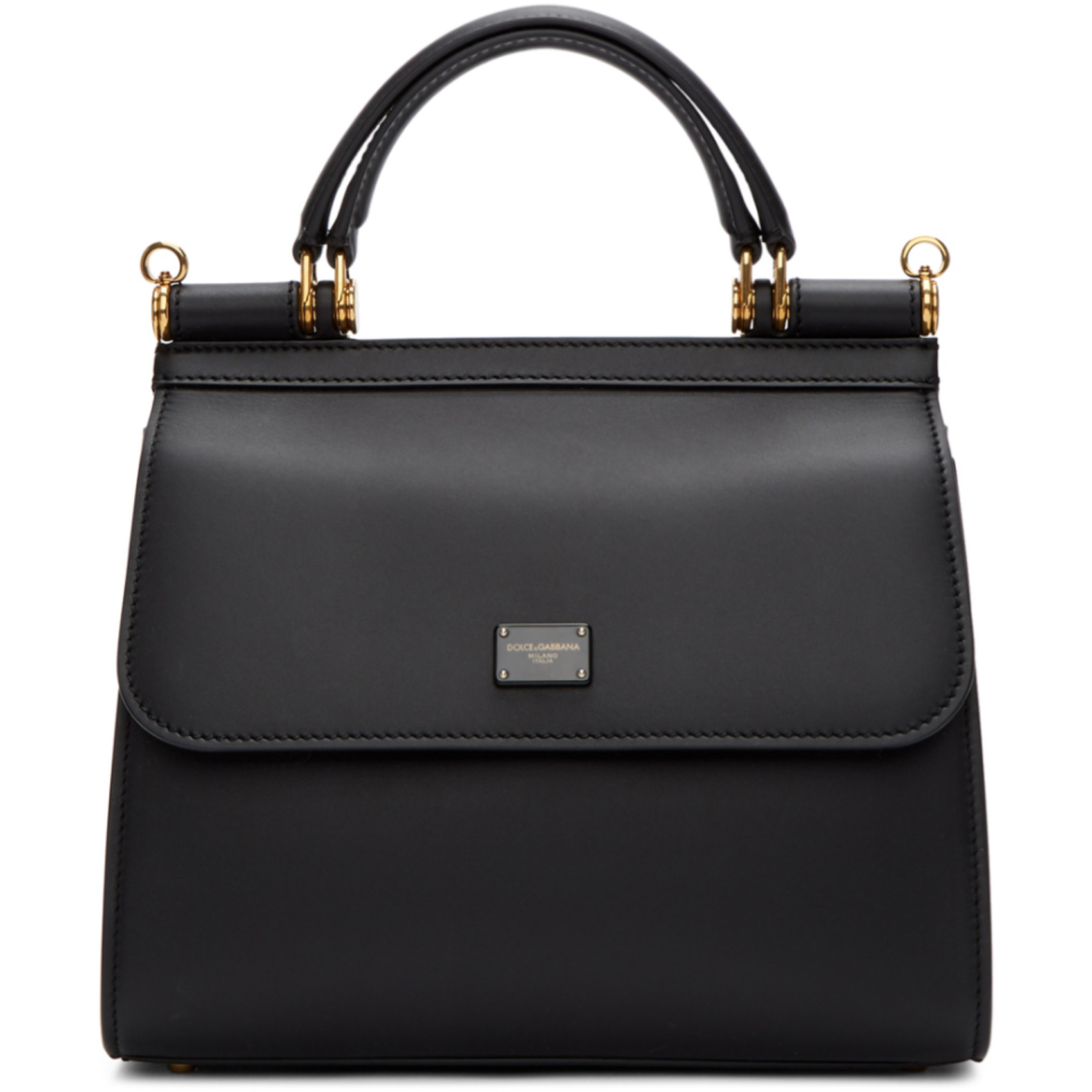 Black Small Sicily 58 Bag by Dolce & Gabbana