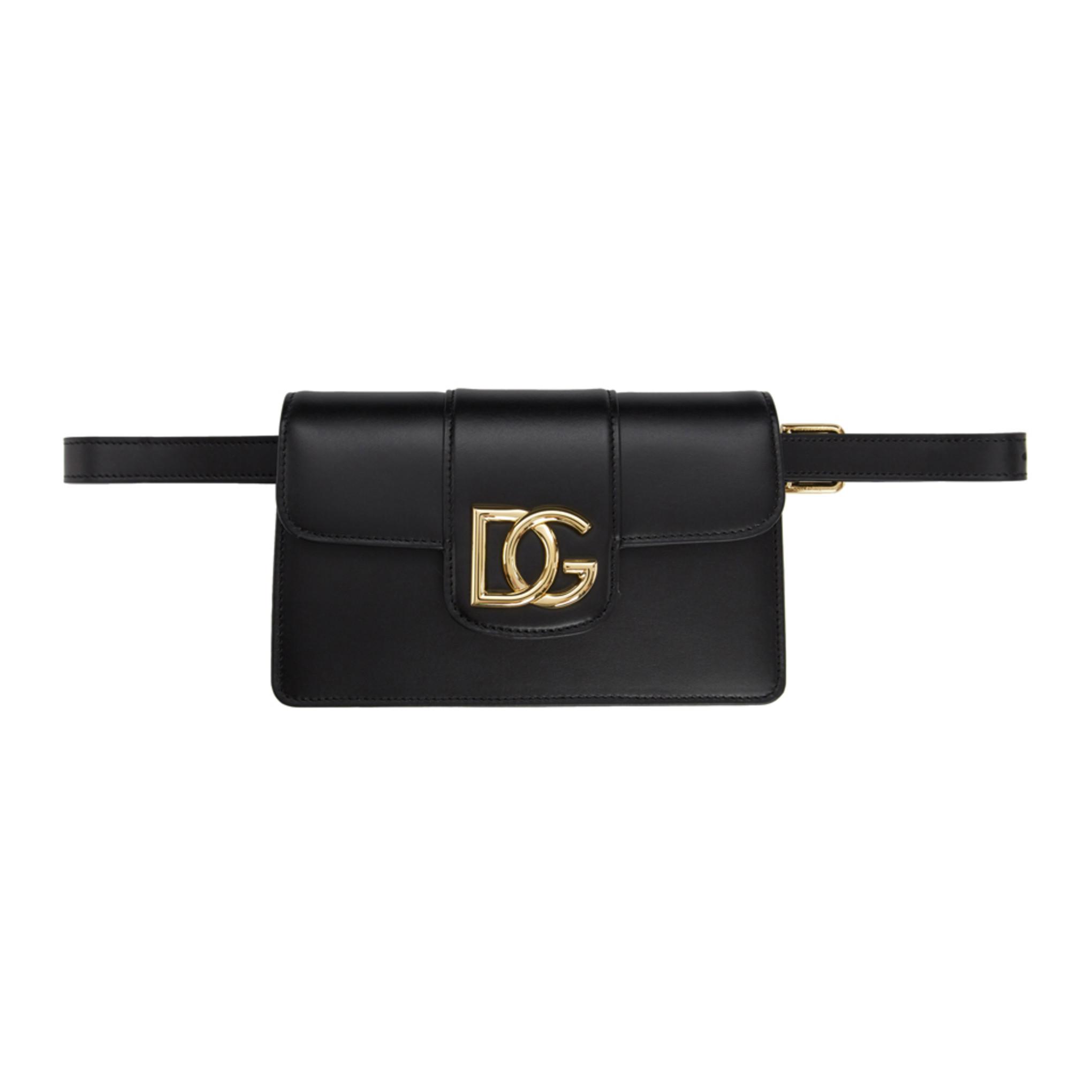 Black Hw 'dg' Belt Bag by Dolce & Gabbana