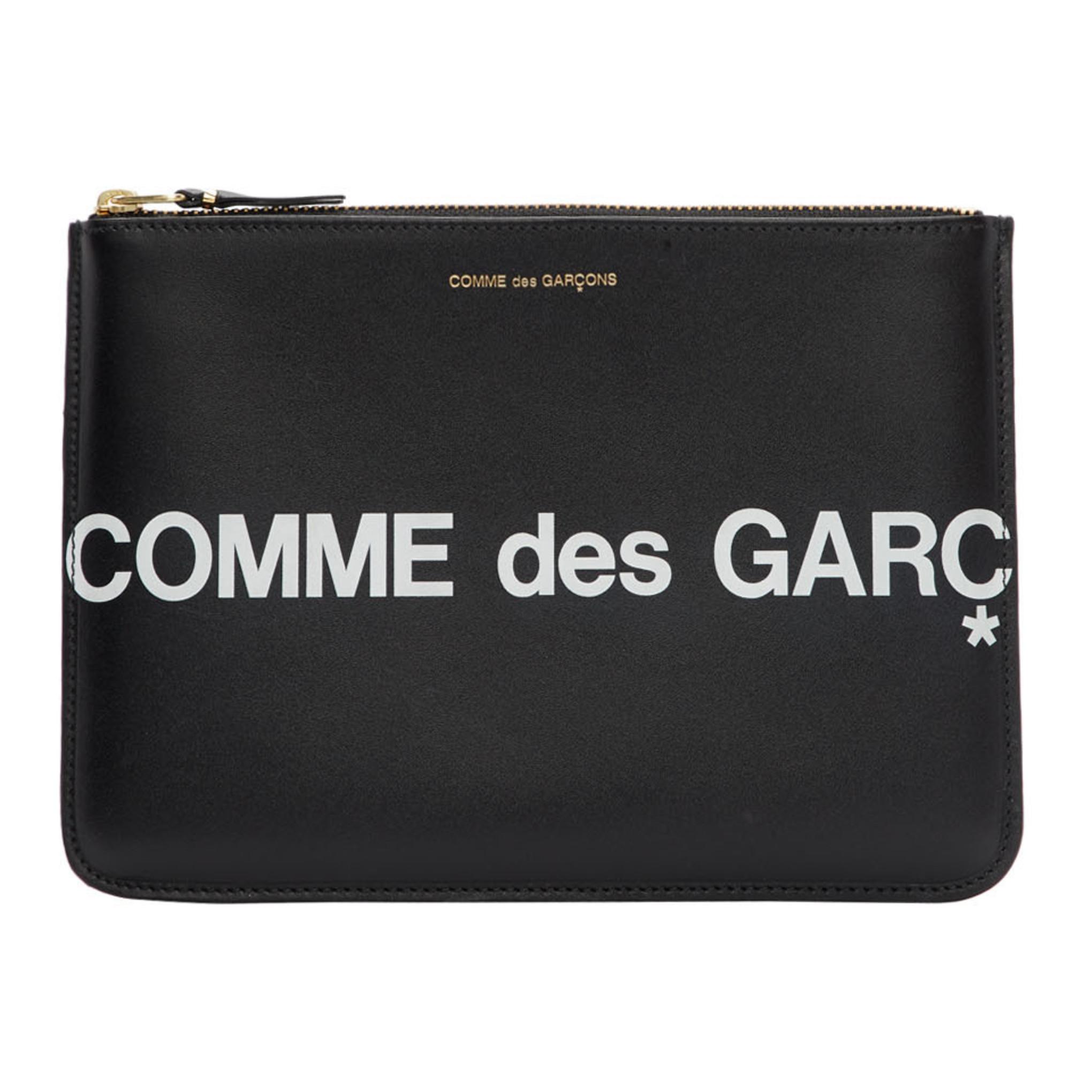 Black Huge Logo Zip Pouch by Comme Des GarÇons Wallets