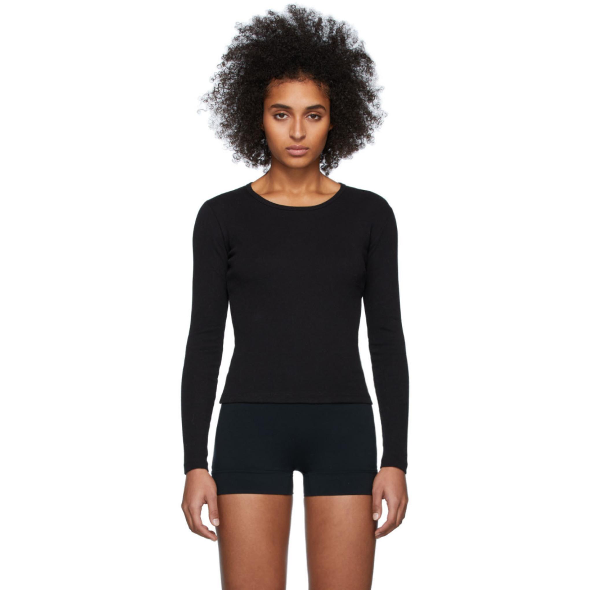 Black Bellevue Long Sleeve T Shirt by Gil Rodriguez