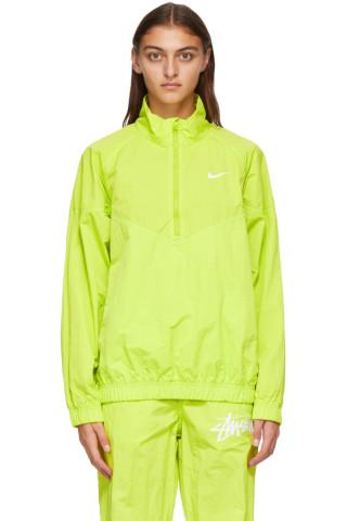 나이키 x 스투시 자켓 Nike Green Stussy Edition NRG Windrunner Jacket,Bright cactus