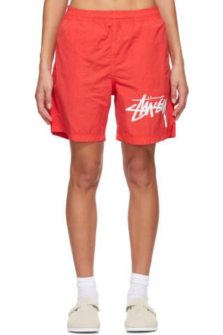 나이키 Nike Red Stuessy Edition NRG Water Shorts,Habanero red