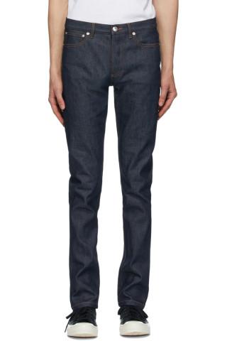 아페쎄 A.P.C. Indigo Petit New Standard Jeans,Indigo