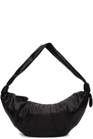 르메르 크로와상 범백 라지, 램스킨 - 블랙 Lemaire Large Lambskin Croissant Bag