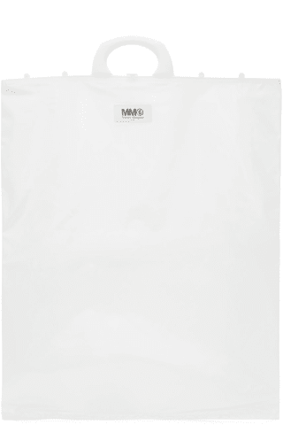 MM6 메종 마르지엘라 Maison Margiela White Rectangle Shopping Tote