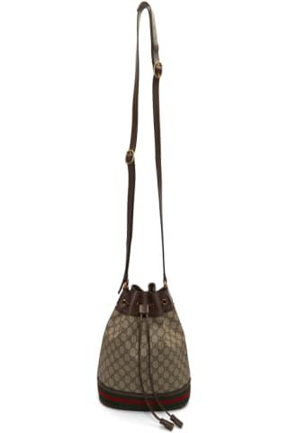 구찌 Gucci Brown GG Supreme Ophidia Bucket Bag
