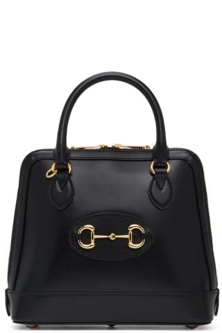 Black Gucci 1955 Horsebit Top Handle Bag
