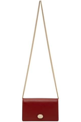 구찌 Gucci Red Interlocking G Wallet Bag,Cherry