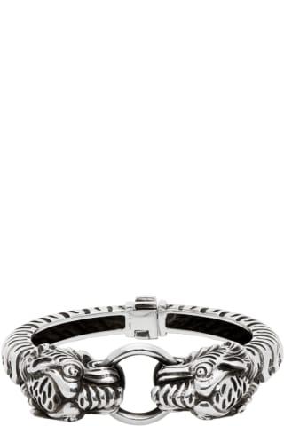 Gucci Silver Garden Tiger Bracelet