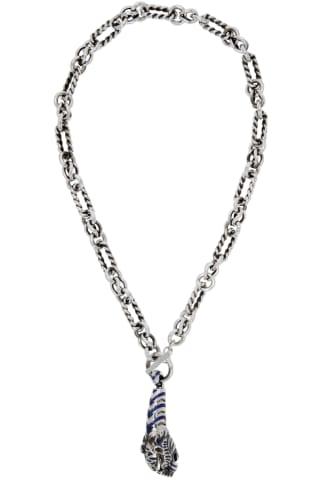 Gucci Silver Dionysus Necklace