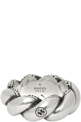구찌 트위스티드 가든 링 Gucci Silver Twisted Garden Ring