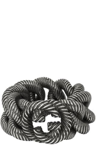 구찌 인터락킹 G 링 Gucci Silver Interlocking G Ring