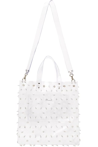 Noir Kei Ninomiya Transparent Flower Ring Tote,White