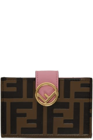 Brown & Pink Forever 펜디 Fendi F is 펜디 Fendi Card Holder
