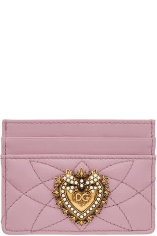 돌체 & 가바나 Dolce & Gabbana Pink Devotion Card Holder
