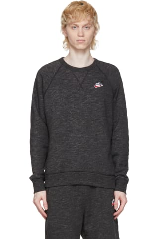 Nike Black Heritage Crew Sweatshirt