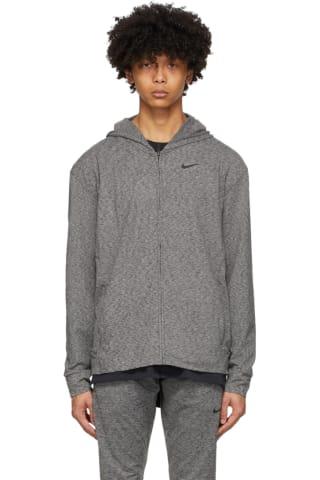 Nike Grey & Black Dri-FIT Yoga Hoodie