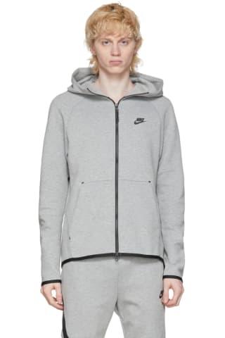 Nike Grey Tech Fleece Sportswear Hoodie