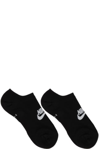 Nike Three-Pack Black Essential Everyday No Show Socks
