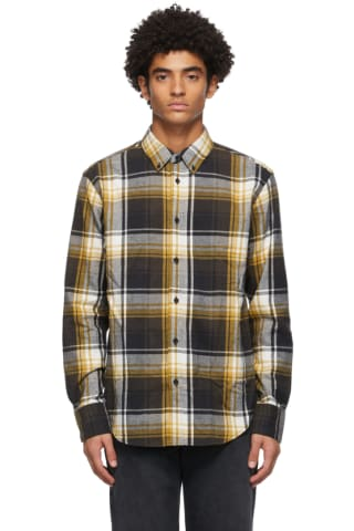Rag & bone Black & Yellow Fit 2 Tomlin Shirt