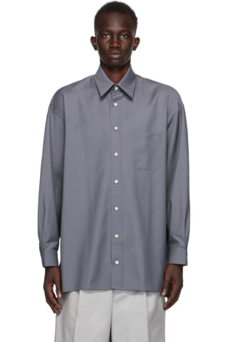 UNIFORME Grey Cool Wool Shirt