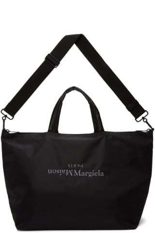 메종 마르지엘라 Maison Margiela Black Embroidered Tote