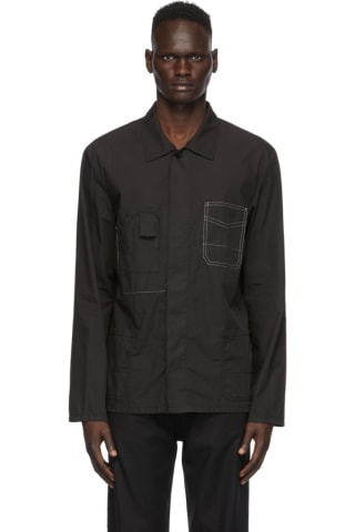 Maison Margiela Black Garment-Dyed Shirt