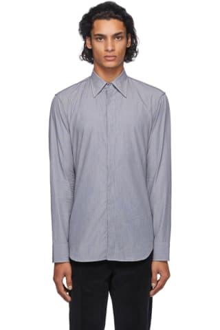 Maison Margiela Black & Grey Microstripe Shirt