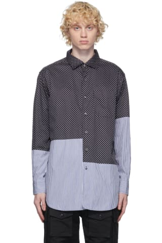 Engineered Garments Navy Big Polka Dot Shirt