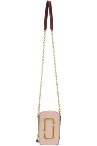Marc Jacobs Pink & Beige The Hot Shot Shoulder Bag