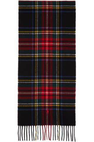 Polo Ralph Lauren Multicolor Wool Tartan Fringe Scarf