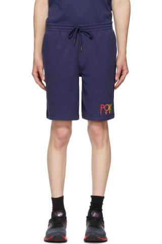 Polo Ralph Lauren Navy Fleece Logo Shorts