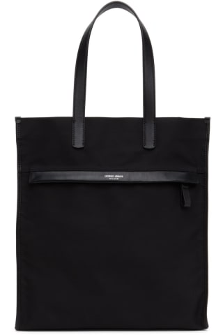 Armani Black Waterproof Nylon Tote