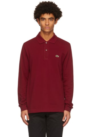 Lacoste Burgundy L.12.12 Long Sleeve Polo