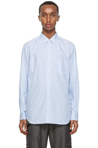 Comme des Garcons Shirt Blue Striped Forever Shirt