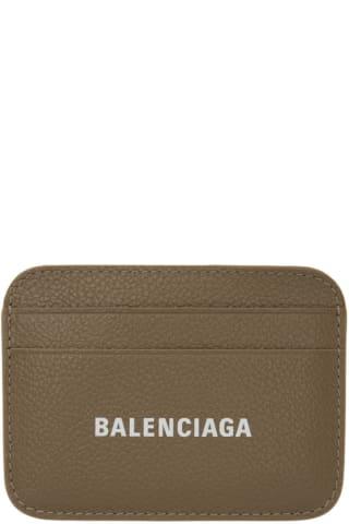 발렌시아가 Balenciaga Grey Cash Logo Card Holder