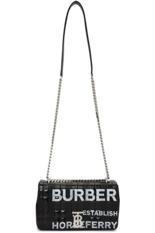Burberry Black Small Horseferry Lola Bag