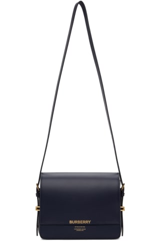 Burberry Navy Small Grace Bag