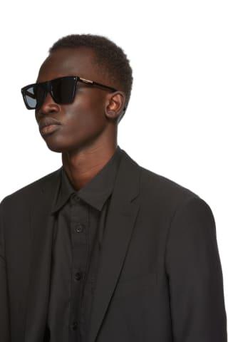 Burberry Black Check Square Sunglasses