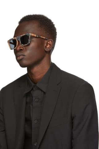 Burberry Brown Vintage Check Square Sunglasses