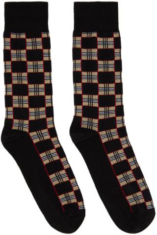 Burberry Black Check Gentleman Socks