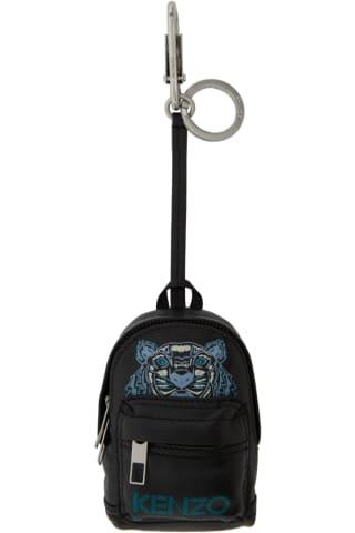 겐조 KENZO Black Kollector Tiger Backpack Keychain