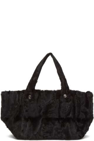 Ludovic de Saint Sernin Black Shearling Purssy Tote