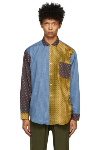 BEAMS PLUS Multicolor Paisley Dobby Shirt