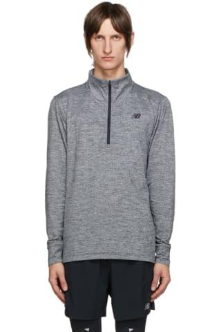 New Balance Grey Fortitech Quarter-Zip Shirt